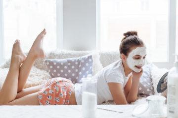 Teenager in a beauty salon