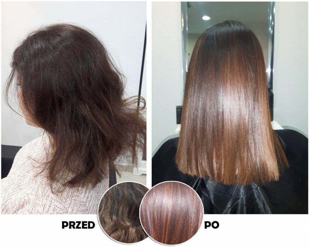 prostowanie włosów keratynowe w krakowie efekty