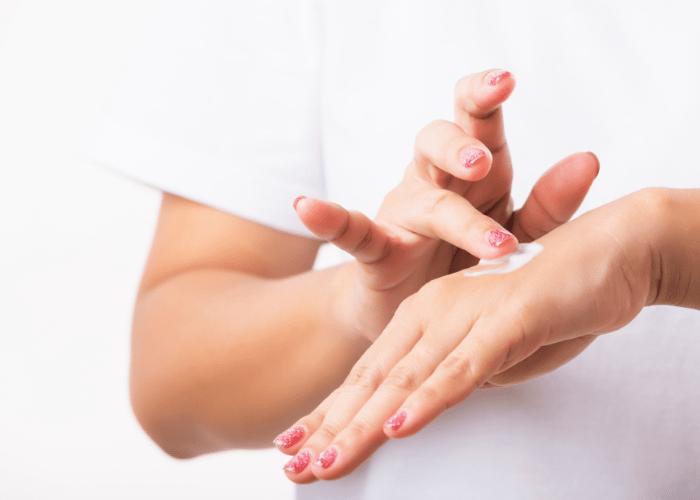 Zabiegi na dlonie 1 Hand treatments to cheat the certificate
